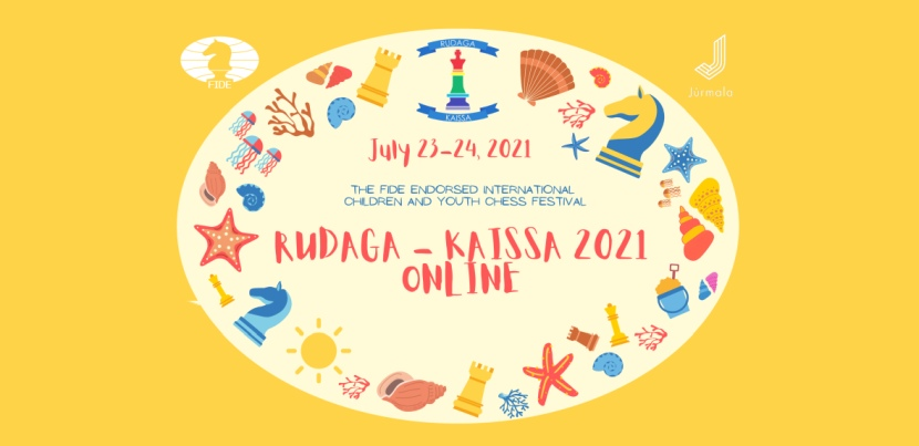 "International Children and Youth Chess Festival ""Rudaga - Kaissa 2021 Online"" kicks off on July 23"