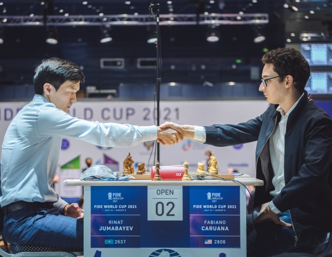 Round 03 Game 02: Fabiano Caruana eliminated from the World Cup