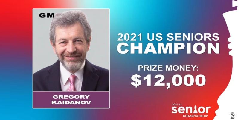 Gregory Kaidanov clinches 2021 U.S. Senior Championship title