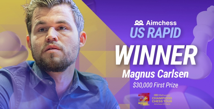 Carlsen hits target to win Aimchess US Rapid