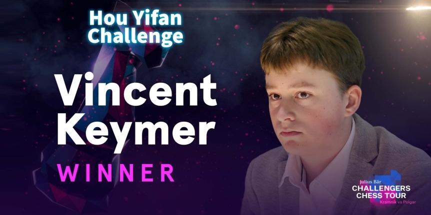 Vincent Keymer wins Hou Yifan Challenge