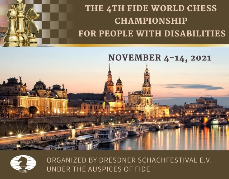 World Chess Championship for People with Disabilities set for November