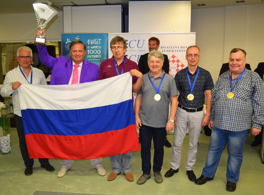 Russia scoops in European Senior Team Chess Championship