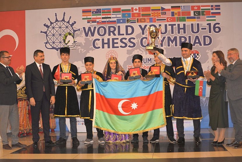 World Youth U-16 Chess Olympiad: Azerbaijan takes gold