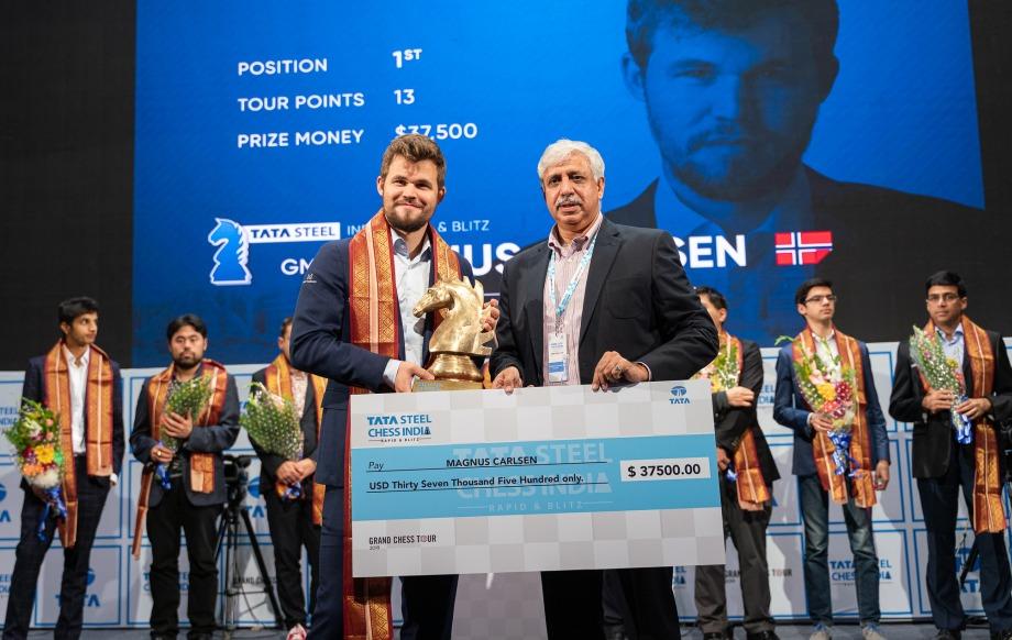 Tata Steel Rapid & Blitz: Carlsen rules supreme