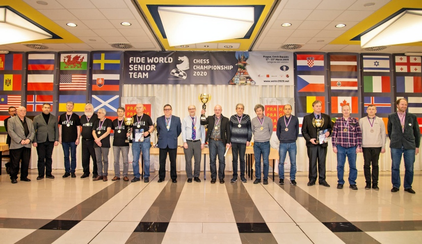 2020 World Senior Team Chess Championship Ends in Prague