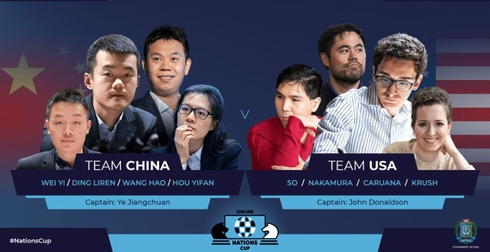 FIDE Chess.com Online Nations Cup: China and USA meet in Superfinal