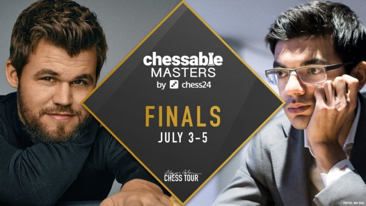 Chessable Masters final: Carlsen edges into the lead