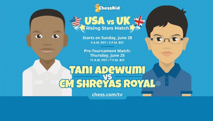 USA and UK prodigies clash in online match