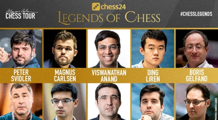 Legends of Chess: Carlsen shoots ahead