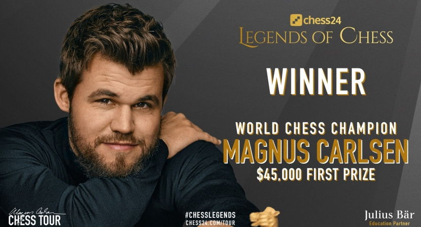 World Champion Magnus Carlsen wins chess24 Legends of Chess