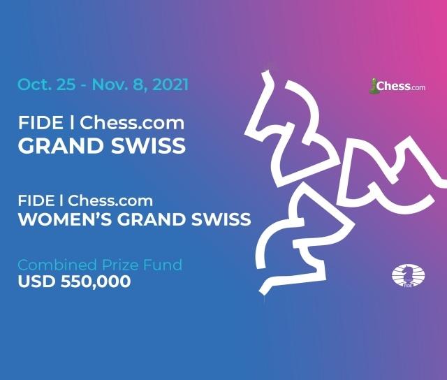 FIDE Chess.com Grand Swissand Women's Grand Swiss 2021 announced
