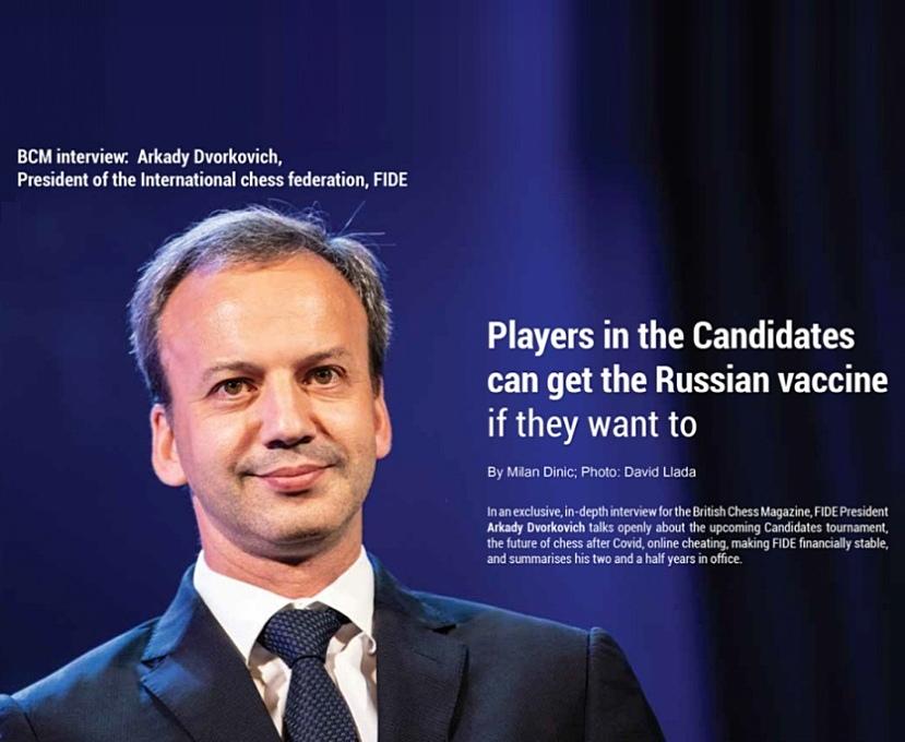 British Chess Magazine interviews FIDE President