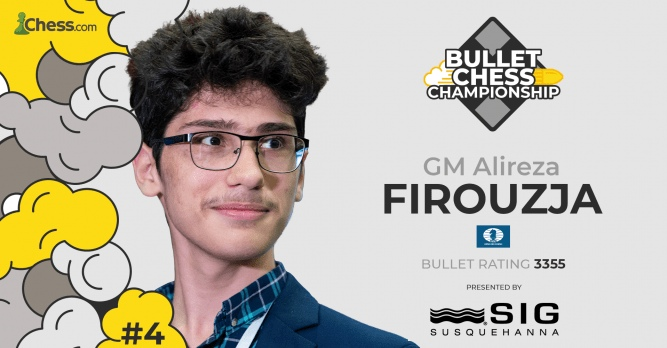 Alireza Firouzja wins 2021 Bullet Chess Championship