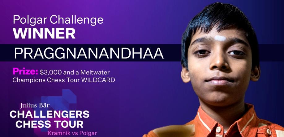 Rameshbabu Praggnanandhaa wins Polgar Challenge