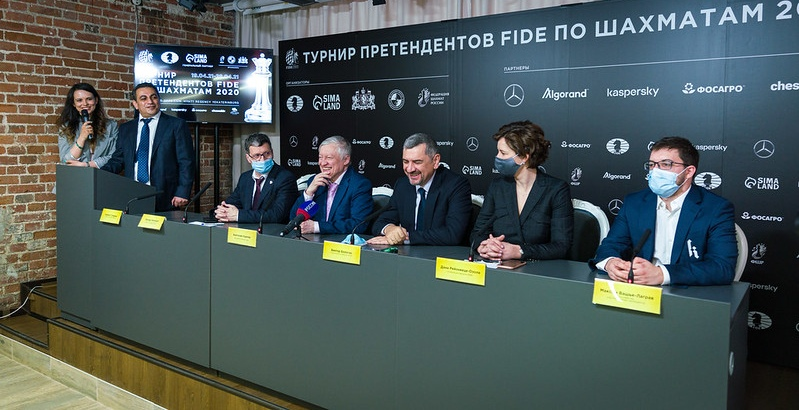Press conference before the resumption of FIDE Candidates Tournament