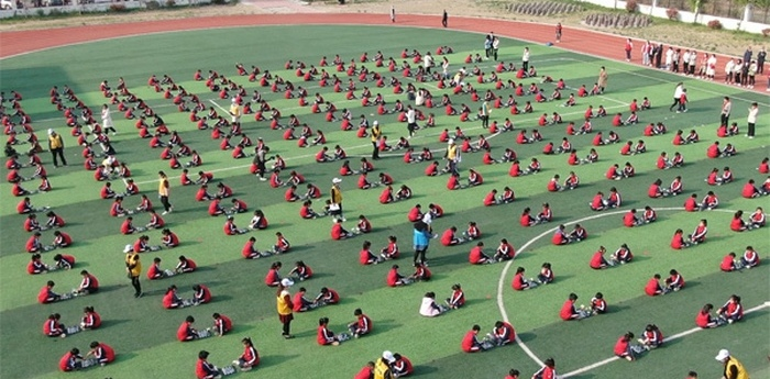 Shenzhen Road Primary School stages impressive chess scene